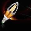 Kép 2/3 - 3 db 5W gyertya LED izzó üveg búrával / E14 foglalatba - meleg fehér