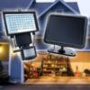 Kép 1/2 - 60 LED-es napelemes reflektor mozgásérzékelővel / 15W