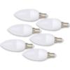 Kép 1/2 - 6 db 3W gyertya LED izzó tejüveg búrával / E14 foglalatba - hideg fehér