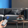 Kép 4/4 - Fahatású aromaterápiás párologtató távirányítóval / ultrahangos párásító, sötét, 400 ml