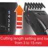 Kép 3/7 - Hoomei hajvágó szett töltődokkal – 3-15 mm-es vágási magasság