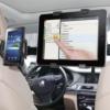 Kép 1/5 - Autós fejtámlára erősíthető univerzális dual telefon- és tablet tartó