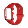 Kép 1/3 - Szilikon szíj és védőtok Apple Watch órához, 42 mm (több színben) - piros