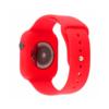 Kép 3/3 - Szilikon szíj és védőtok Apple Watch órához, 42 mm (több színben) - piros
