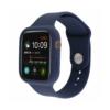 Kép 1/3 - Szilikon szíj és védőtok Apple Watch órához, 44 mm (több színben) - sötétkék