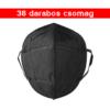 Kép 1/4 - Fekete KN95 légzésvédő arcmaszk / szájmaszk (FFP2) - 36 darab