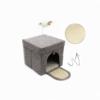 Kép 3/4 - Összecsukható – hordozható macskaház / játékkal (BPS-10707)