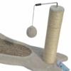 Kép 2/4 - Macska kaparófa /puha szőnyeggel és labdával (BPS-10723)