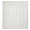 Kép 4/5 - Fehér, 3D-s öntapadós dekor tapéta tégla mintával / falmatrica – 70x77 cm