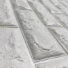 Kép 2/5 - Fehér, 3D-s öntapadós dekor tapéta tégla mintával / falmatrica – 70x77 cm