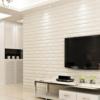 Kép 5/5 - Fehér, 3D-s öntapadós dekor tapéta tégla mintával / falmatrica – 70x77 cm