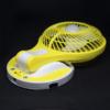 Kép 4/4 - Dönthető asztali ventilátor / akkuulátoros, led világítással, sárga (JR-5580)