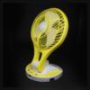 Kép 2/4 - Dönthető asztali ventilátor / akkuulátoros, led világítással, sárga (JR-5580)