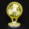 Kép 1/4 - Dönthető asztali ventilátor / akkuulátoros, led világítással, sárga (JR-5580)