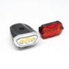 Kép 1/3 - LED-es kerékpár lámpa szett / első és hátsó / elemes (16766)