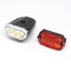 Kép 2/3 - LED-es kerékpár lámpa szett / első és hátsó / elemes (16766)
