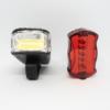 Kép 1/3 - LED-es kerékpár lámpa szett / első és hátsó / elemes (16768)