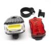 Kép 3/3 - LED-es kerékpár lámpa szett / első és hátsó / elemes (16768)