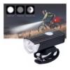 Kép 1/3 - LED-es kerékpár lámpa / első / Tölthető akkumulátorral (16765)