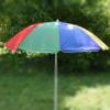 Kép 1/5 - Csíkos napernyő állítható leszúró állvánnyal / 180x150 cm (A)