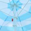 Kép 2/5 - Csíkos napernyő állítható leszúró állvánnyal / 180x150 cm (A)