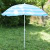 Kép 5/5 - Csíkos napernyő állítható leszúró állvánnyal / 180x150 cm (A)