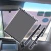 Kép 1/4 - 2 db-os rolós árnyékoló autóba / autós napvédő - 45x50 cm