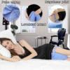 Kép 3/3 - Kontúr lábpárna rugalmas pánttal, a kényelmes alvásért / térd- és lábtámasztó párna, szürke