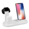 Kép 1/4 - Multifunkciós töltődokk / telefon, okosóra és vezetéknélküli fülhallgató töltéssel