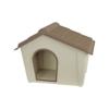 Kép 1/4 - Műanyag kutyaház kül- és beltérre, S-es méret / 57x41,8x39 cm
