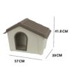 Kép 4/4 - Műanyag kutyaház kül- és beltérre, S-es méret / 57x41,8x39 cm