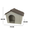 Kép 4/4 - Műanyag kutyaház kül- és beltérre, M-es méret / 79x60x59 cm