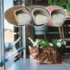 Kép 2/2 - Bebújós fekhely macskáknak és kutyáknak / 56x50x30 cm – barna (BPS-14843)