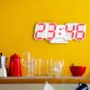Kép 1/5 - Digitális LED óra hőmérővel / asztali és fali óra - piros