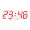 Kép 2/5 - Digitális LED óra hőmérővel / asztali és fali óra - piros