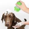 Kép 2/4 - Kisállat fürdető szilikon masszázsszivacs / szappanadagolóval