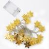 Kép 2/4 - Prémium karácsonyi LED-füzér / 20 db LED, hópihés (1101660)