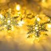 Kép 1/4 - Prémium karácsonyi LED-füzér / 20 db LED, hópihés (1101660)