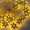 Kép 3/4 - Prémium karácsonyi LED-füzér / 20 db LED, hópihés (1101660)