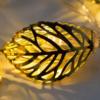Kép 1/4 - Prémium karácsonyi LED-füzér / 10 db LED, leveles (1101658)