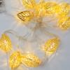 Kép 4/4 - Prémium karácsonyi LED-füzér / 10 db LED, leveles (1101658)