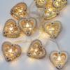 Kép 4/4 - Prémium karácsonyi fa LED-füzér / 10 db LED, ünnepi szívecske mintás (1101665)