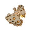 Kép 2/4 - Prémium karácsonyi LED-füzér fa figurákkal / 10 db LED, angyalmintás (1101667)