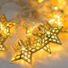 Kép 1/3 - Prémium karácsonyi LED-füzér / 20 db LED, csillagos (1101659)