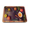 Kép 1/4 - Digitális konyhai mérleg, érintés érzékelővel – gránátalmás mintával / 5 kg-ig