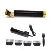 Kép 1/3 - Professzionális vezeték nélküli T-pengés hajnyíró gép – akkumulátor töltővel / fekete-arany (DL-1072)