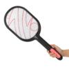 Kép 1/7 - Világító elektromos légycsapó és szúnyogirtó teniszütő akkumulátorral - fekete