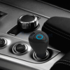 Kép 1/5 - Bluetooth headset és USB töltő autóba – szivargyújtós / fekete (R6000)
