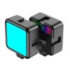 Kép 2/8 - Ulanzi VL49 mini RGB LED videólámpa - állítható szín és -színhőmérséklet, akkumulátor, vakupapucs foglalat