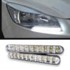 Kép 1/4 - Autós nappali menetfény – extra erős fényű 20 SMD LED / 10 db sárga index chip (LED-239)